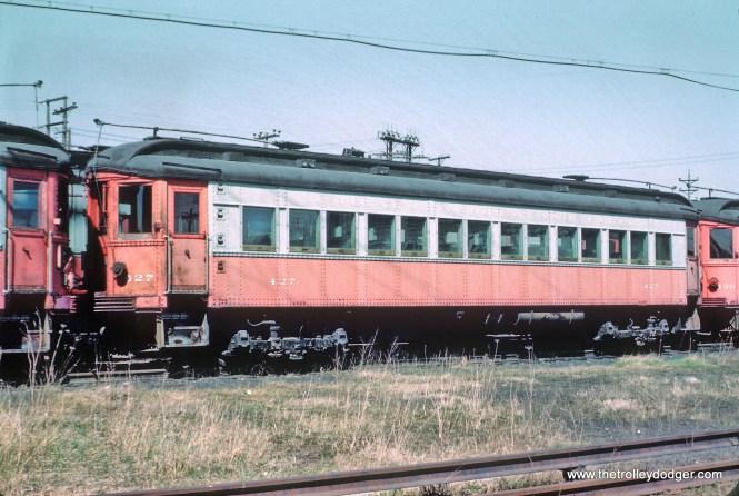 CA&E 427 stored at Wheaton, IL Shops, April 25, 1962