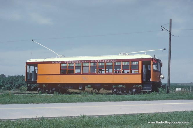 Iowa Terminal Railroad Car 101 near Roseville Siding Photograph taken by Roger Puta the weekend of August 12th and 13th, 1967 in Iowa.