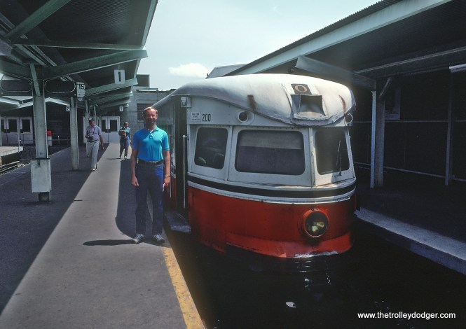 Roger Puta took these six photos of SEPTA Brill Bullet 200 at 69th Street Terminal in Upper Darby, PA in May 1983. I rode these cars and stupidly never took interior shots. Thanks Roger for helping me remember. Note: Brill made transit cars. And yes, that's Roger Puta.