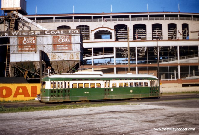 CTA 7191 passing by Wrigley Field. (Robert Heinlein Photo)