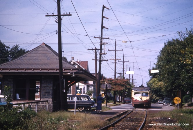 Red Arrow car 13 on the Media line in November 1959.