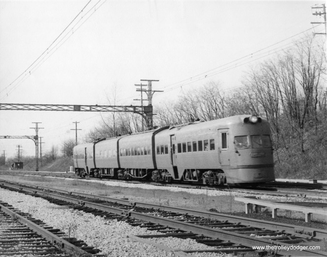 A North Shore Line Electroliner... at North Chicago Junction?