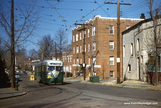 DC Transit 1321 at the Soldier's Home end of Route 74 on February 7, 1959. (Clark Frazier Photo)