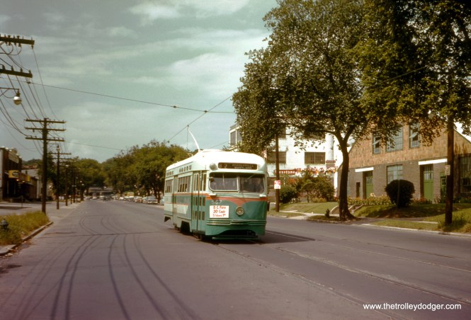 DC Transit 1567 on Route 82 on Rhode Island Avenue, September 1, 1958. (Clark Frazier Photo)
