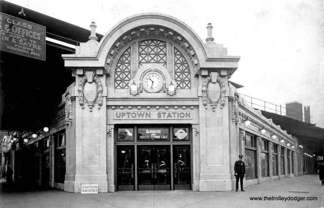The new Uptown Union Station in 1923, designed by Arthur U. Gerber.  (Chicago Transit Authority Historical Collection)
