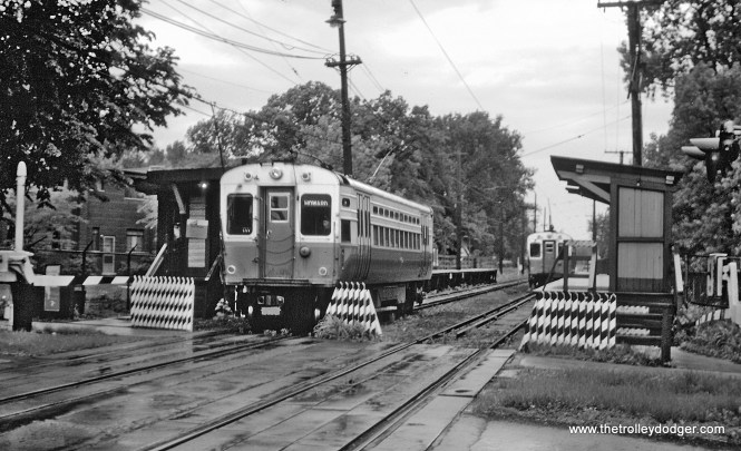Chicago Transit Authority's Evanston Shuttle at Isabella station in Evanston, IL on May 26, 1962.  (Roger Puta Photo)