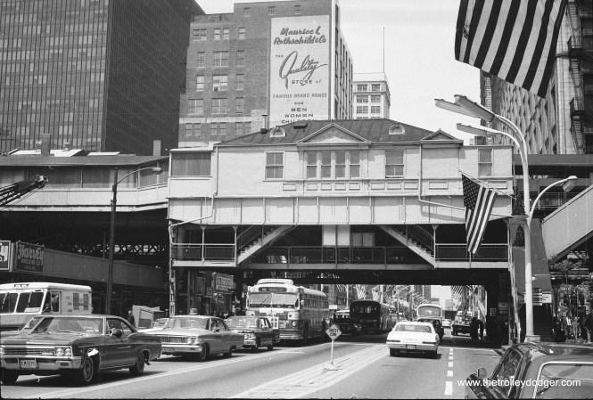 "The original ""L"" station at State and Van Buren Streets circa 1970."
