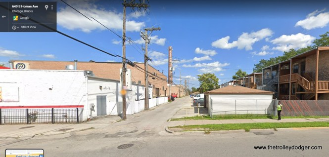 """649 S. Homan (3400 W.), looking east. Here, the """"L"""" was definitely south of the alley."""