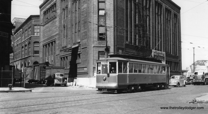 """CSL 1466. This may be one of the cars that was usually used to train crews in the Van Buren Street tunnel under the Chicago River. (Joe L. Diaz Photo) Daniel Joseph says, """"I believe this is at 18th St, Canalport & Normal."""""""