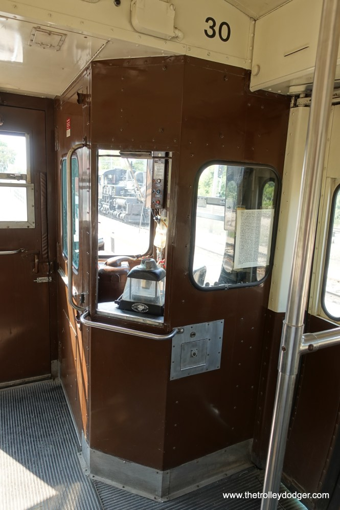 The singles were set up for one-person operation, where it was possible to have the operator collect fares on the train. They were used at night on the Evanston shuttle in this manner for some years, but it really slowed things down.