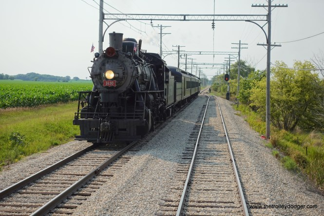 The 1630 at the passing siding near the end of the main line.