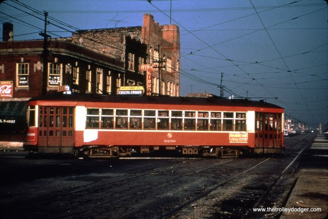 CTA 6238 at 71st and Western on February 3, 1953.