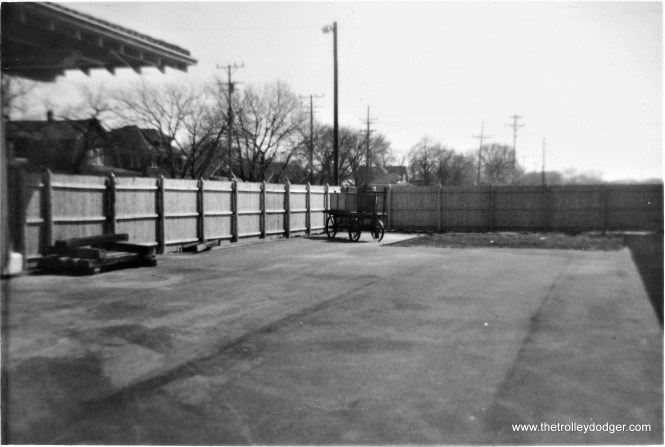 NSL Kenosha Station, looking south from the former track area, April 5, 1972. (Larry Sakar Photo)