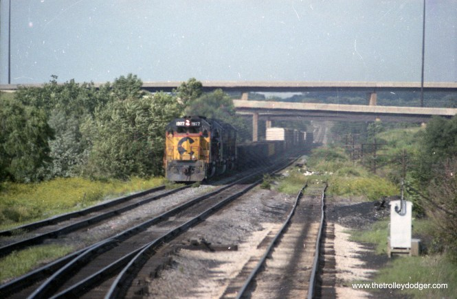 Scenes taken from my switching engine at the east end of B&O's Bayview Yard.