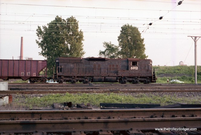 Conrail hump power, SD9, #6912. Engine was permanently assigned to Bayview