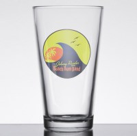 Johnny Russler and the Beach Bum Band Logo Pint Glass