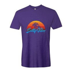 Salty Vibes Sunset Unisex Tee, The Troprock Shop