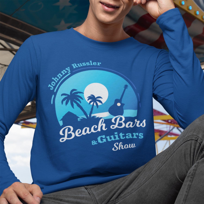 Beach Bars and Guitars Show Long Sleeve Tee, The Troprock Shop