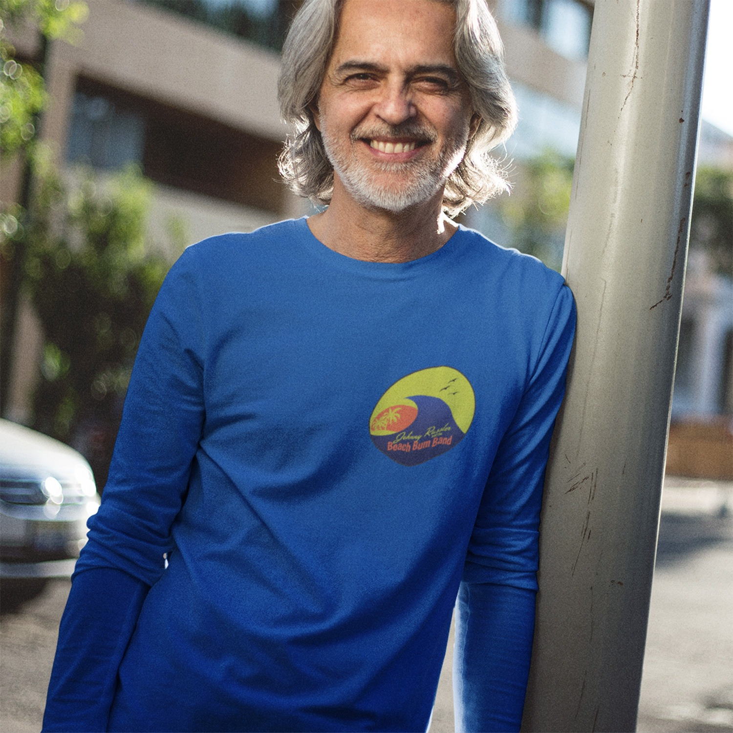 Johnny Russler and the Beach Bum Band Unisex Long Sleeve Tee, The Troprock Shop