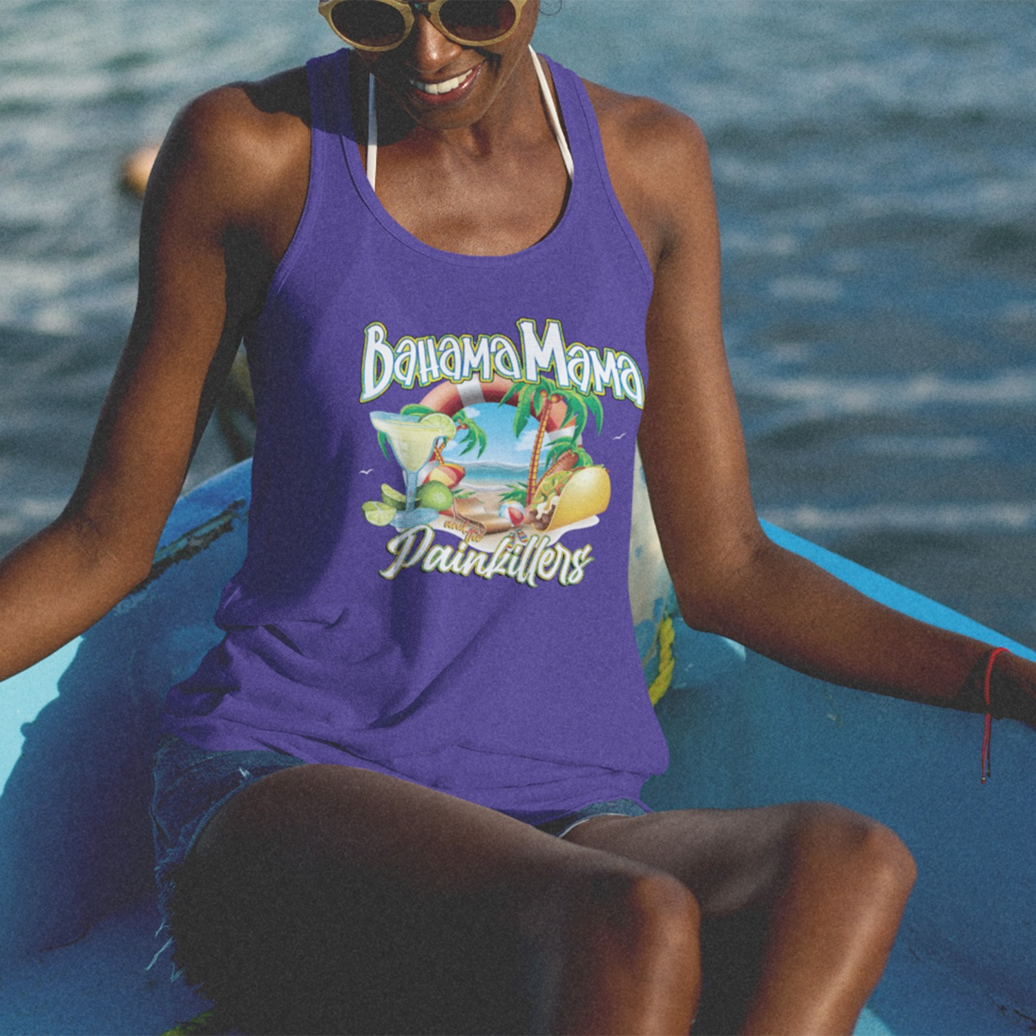 Bahama Mama and the Painkillers Double T Racerback Tank, The Troprock Shop