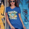 Bahama Mama and the Painkillers Logo Womens Vneck Fitted Tee, The Troprock Shop