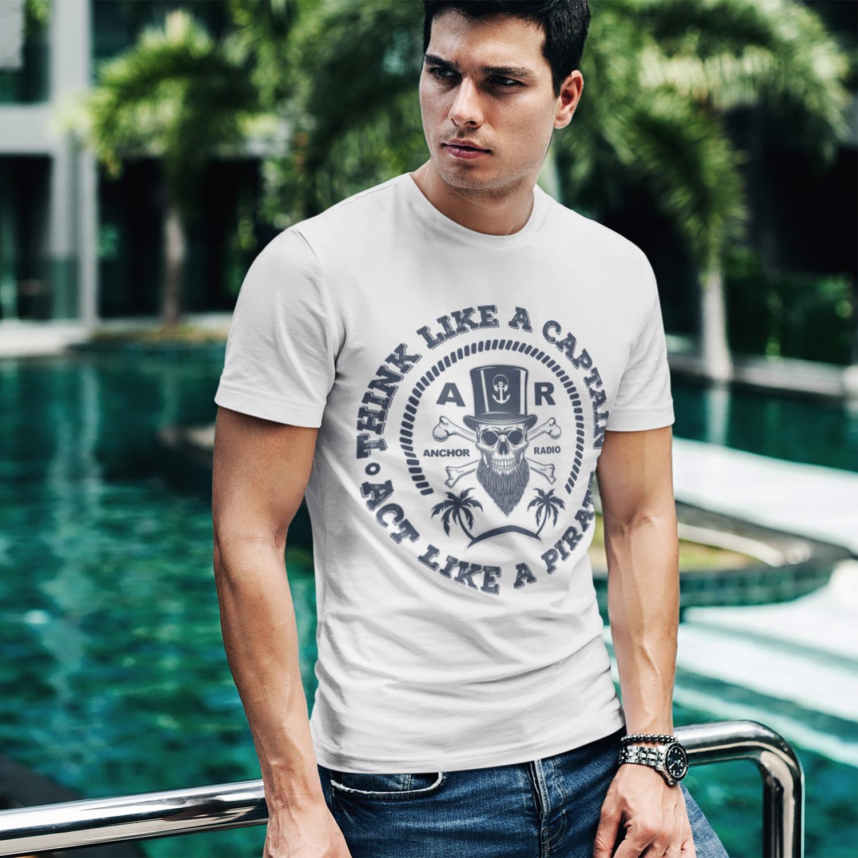 Anchor Radio Show Pirate Logo Unisex T-Shirt, The Troprock Shop