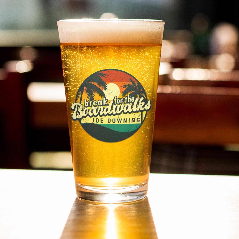 Joe Downing Boardwalks Pint Glass, The Troprock Shop