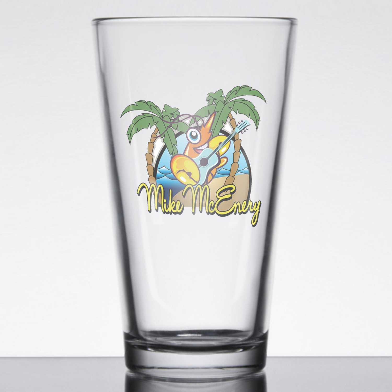 Mike McEnery Pint Glass, The Troprock Shop