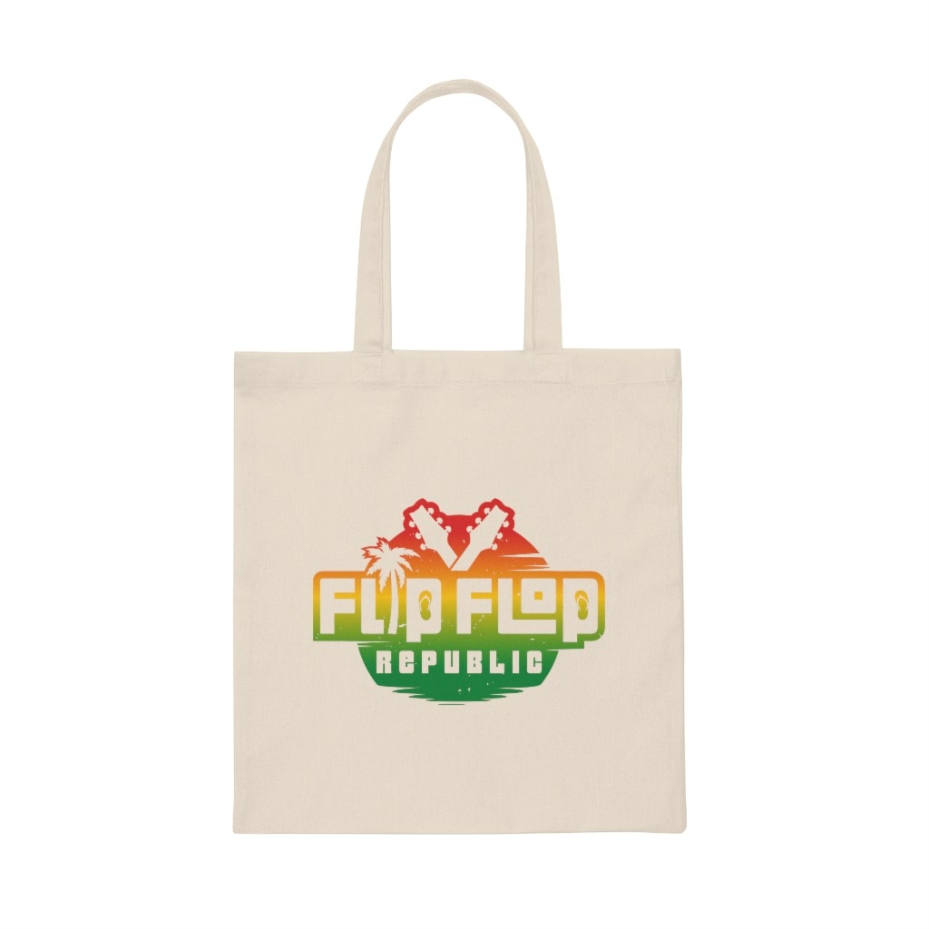 Flip Flop Republic Canvas Tote Bag, The Troprock Shop