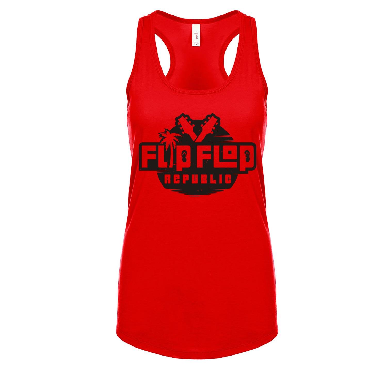 Flip Flop Republic Black Logo Women's Racerback Tank, The Troprock Shop