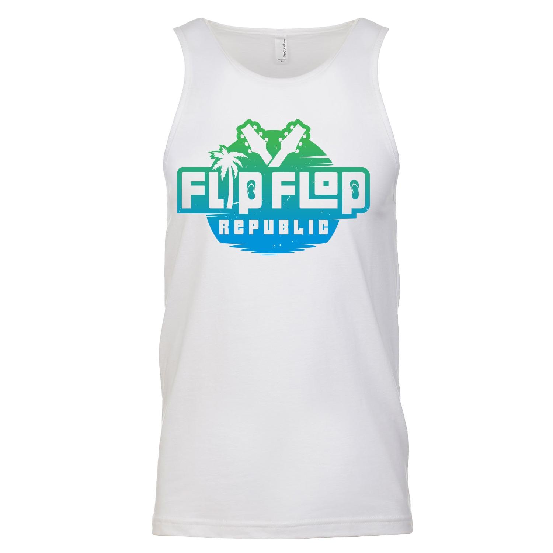 Flip Flop Republic Planet Earth Logo Men's Tank Top, The Troprock Shop