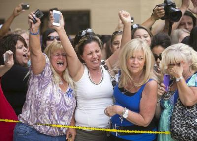 Fat ladies singing & rejoicing at guilty verdict