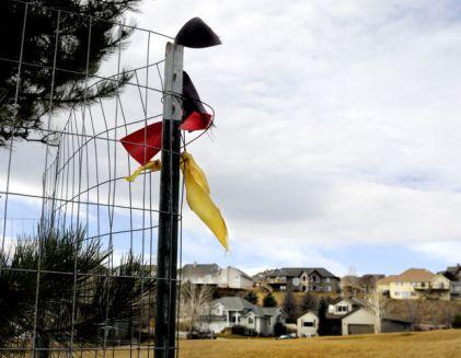 German flag floats in Markus' neighborhood