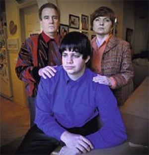 Matt Bandy and his parents