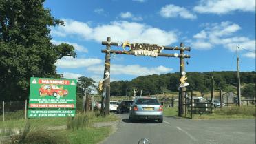 Monkey enclosure Longleat Safari Park