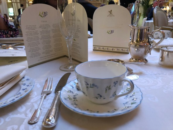 Tea Menu - The Ritz