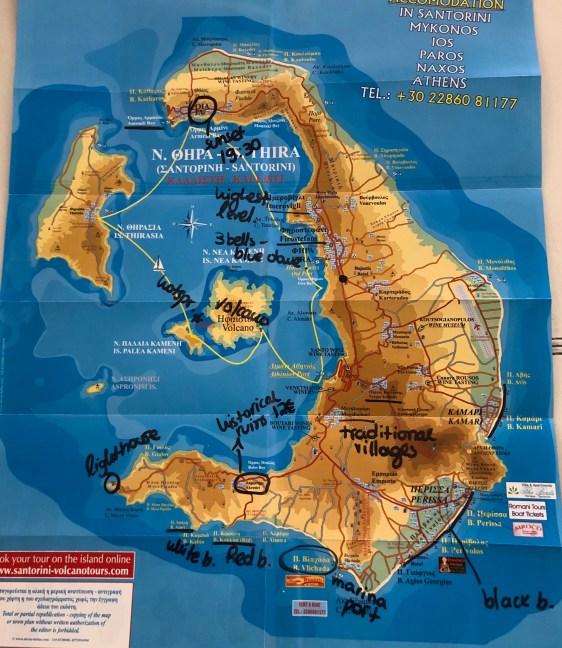 Map Santorini
