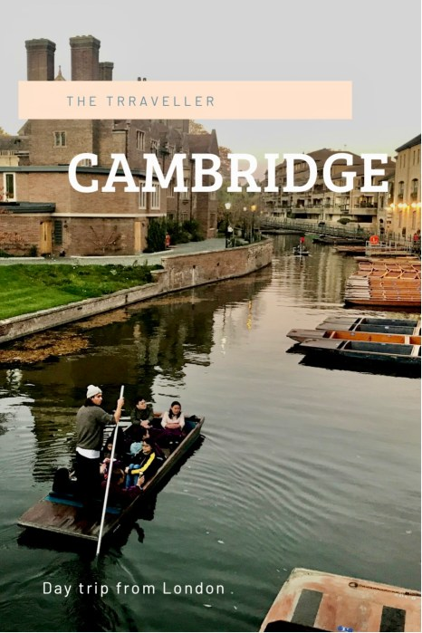 Day trip to Cambridge from London.
