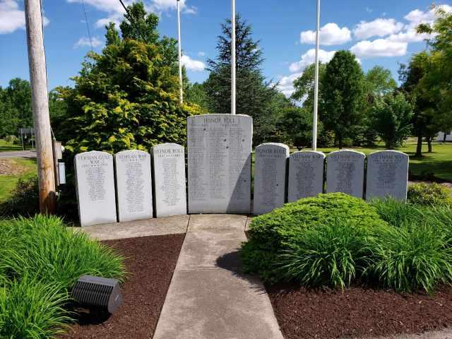Mifflinville Pa veterans memorial.