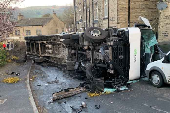 Hero' truck driver narrowly avoids serious accident after brake failure