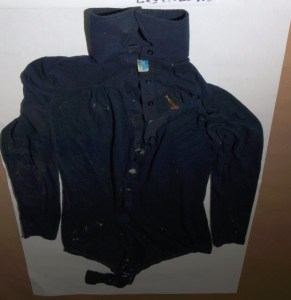 Image of clothing worn by murder victim Nation River Lady
