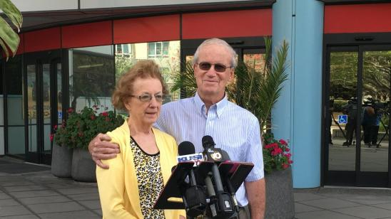 Photo of Richard and Rita Moore, parents of murdered Andrew Moore