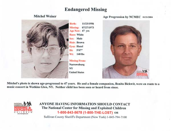 Age progressed photo of missing person Mitch Reiser