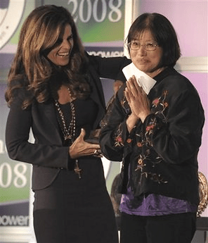 Click to watch Betty receiving her Minerva award at The Women's Conference in Long Beach, California, October 22, 2008 (AP Photo/Chris Pizzello)