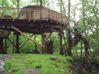 Living Room Treehouses, Machynlleth: accommodation review ...