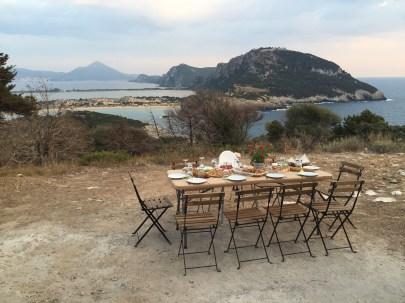 Sunset picnic, Costa Navarino