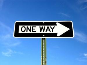 Onw Way Sign