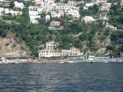 Approaching Positano from the water