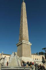 The obelisk in Piazza del Popolo