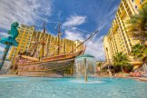 The pirate ship pool at the Lake Buena Vista Village Resort & Spa - Where to Stay Near the Orlando Theme Parks - The Trusted Traveller
